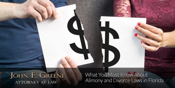 What You Must Know About Alimony and Divorce Laws in Florida