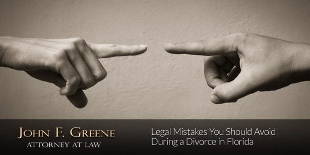 Legal Mistakes You Should Avoid During a Divorce in Florida