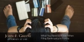 What You Need to Know When Filing Bankruptcy in Florida