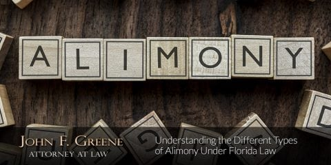 Understanding the Different Types of Alimony Under Florida Law