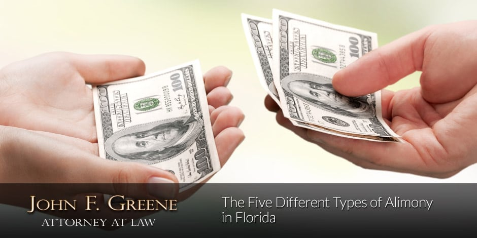 The Five Different Types of Alimony in Florida