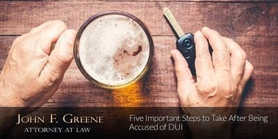 Five Important Steps to Take After Being Accused of DUI