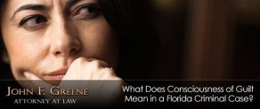 Consciousness of Guilt: What It Means And How It Can Impact Your Florida Criminal Case
