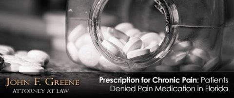 Prescription for Chronic Pain: Patients Denied Pain Medication in Florida