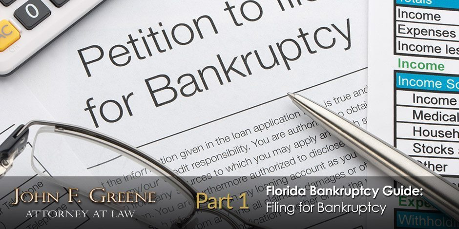 Florida Bankruptcy Guide - Part 1 - Filing for Bankruptcy