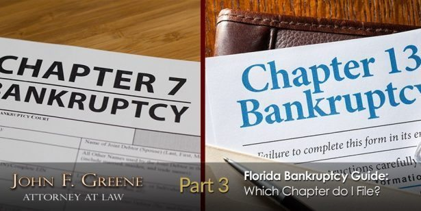 Florida Bankruptcy Guide - Part 3 - Which Chapter do I File?