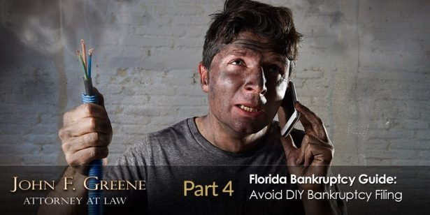 Florida Bankruptcy Guide Part 4 - Why You Should Never File Bankruptcy Yourself