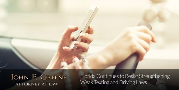 Florida Continues to Resist Strengthening Weak Texting and Driving Laws