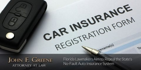 Florida Lawmakers Aim to Repeal the State's No-Fault Auto Insurance System