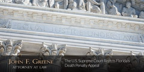 The U.S. Supreme Court Rejects Florida's Death Penalty Appeal