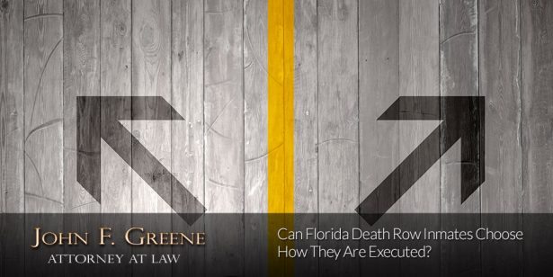 Can Florida Death Row Inmates Choose How They Are Executed?