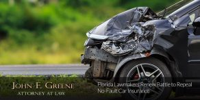 Florida Lawmakers Renew Battle to Repeal No-Fault Car Insurance